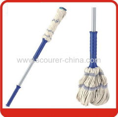 Swivel Mixed cotton twist mop with colorful pp bag