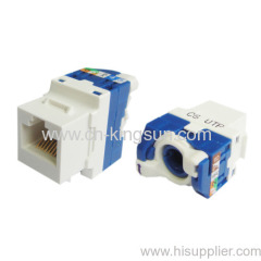Legrand type toolless rotary Cat.6 keystone jack