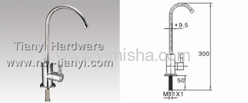 YIMISHA Deck Mounted Brass Kitchen Faucet with Single Handle