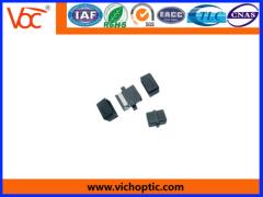 black plastic MPO Optical Fiber Adaptor
