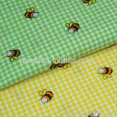 100%cotton yarn dye and printed 1/16 apron check