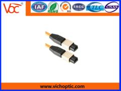 FTTB Application black plastic MPO Optical Fiber Connector