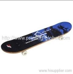 Heat transfer films for plastic skate decks
