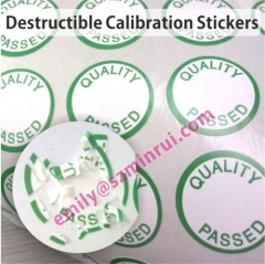 One Time Use Quality Assurance Labels