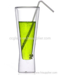Thickening Creative High Transparent Double Wall Glass Juice Cup
