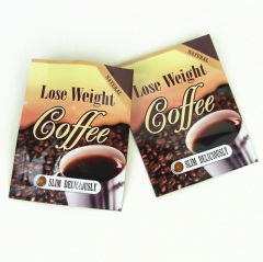Heat Seal aluminum foil bag with tear notch strip for coffee