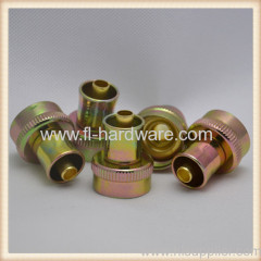 Washing machine hose coupling steel nut & brass stem