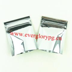 mini tea aluminum foil bags zipper on top
