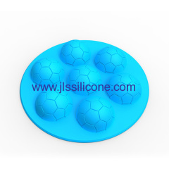 Brand new 7-cavity football silicone chocolate molds