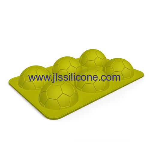 6-cavity football shape silicone ice cube tray