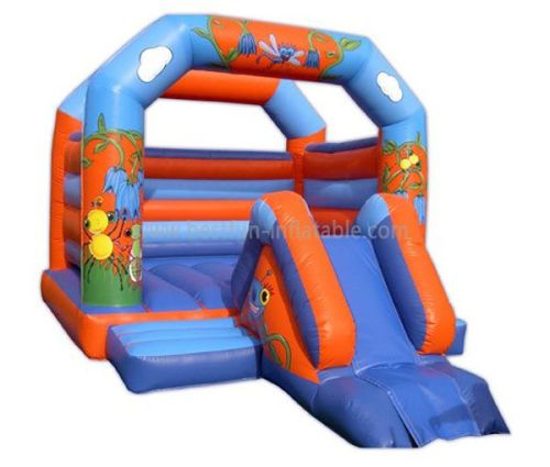 Inflatable Cartoon Bounce House Slide Combo