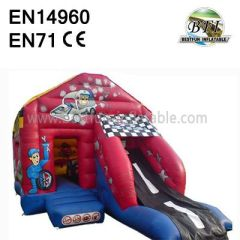 Inflatable Car Bounce Slide Combo