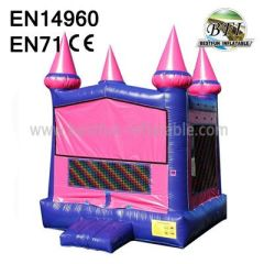 Outdoor Pink Bounce House