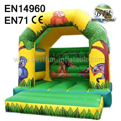 Commercial Jungle Animal Bounce House
