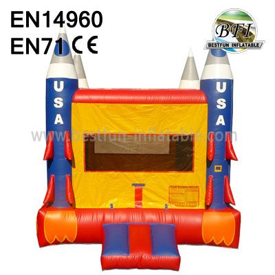 Inflatable USA Rocket Bounce House