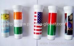 Hot stamping film for plastic flashlight shell
