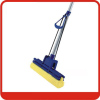 Foldable Single Roller PVA Mop with Blue yellow color