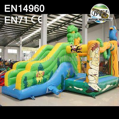 Jungle Inflatable Bouncer Slide