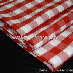 80%polyester 20%cotton yarn dye 1/4 apron check