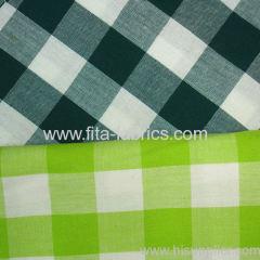100%cotton yarn dye large grid cloth