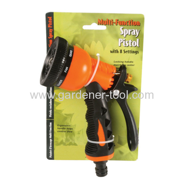 8-Pattern Plastic Trigger Nozzle for hose.