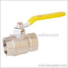 Two piece Nickle Plating Brass Ball Valve