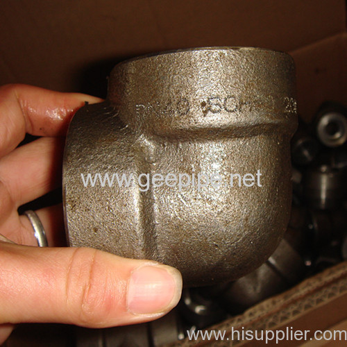 china carbon steel ASTM A350 socket weld forged elbow