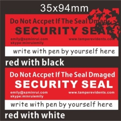 Do Not Open If Seal Damaged Security Eggshell Labels
