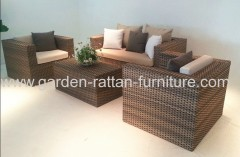 2013 new flat and round PE wicker garden patio lounge set 3D