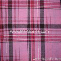 100%cotton yarn dye apron check with filamentary silver