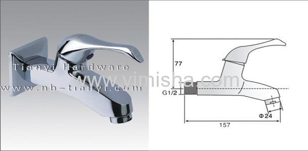Deluxe Brass Ceramic Sheet Water Faucet