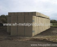 Military bunker welded mesh barrier