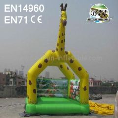 Inflatable Giraffe Castle Bouncer