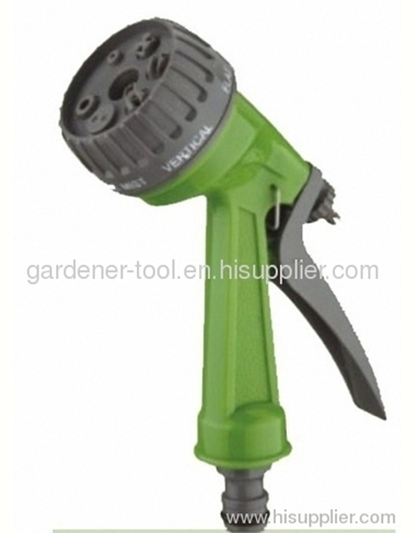 7-dial function plastic garden water hose nozzle for car washing