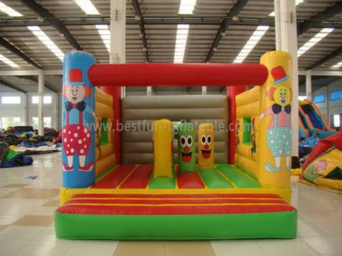 Commercial Happy Circus Bounce Houses