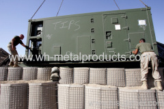 Multi-cellular welded wire mesh wall system military protection products