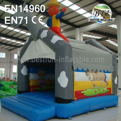 Inflatable Bouncer With Basketball Hoop