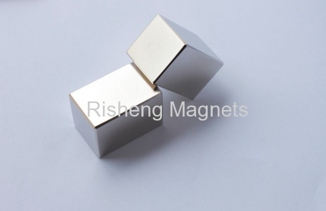 N45SH Super Strong Neodymium Magnets Block Rare Earth Magnets with Nickel Coating