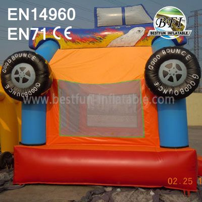 Inflatable Monster Truck Bounce House Party Fun