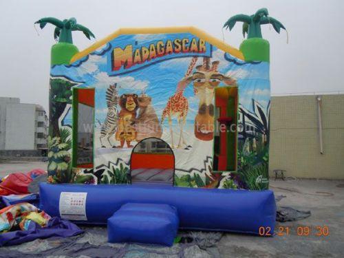 Madagascar Inflatable Bouncy Castle Moonwalk Pillow Bouncer