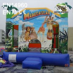 Commercial Backyard Inflatable Madagascar Bounce House