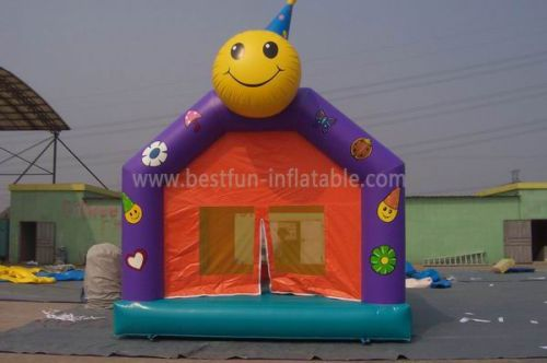 Commercial Backyard Inflatable Smile Face Bounce House
