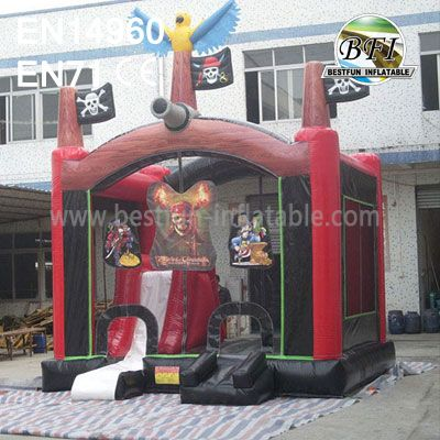Pirate Inflatable Bouncers With Inside Slide