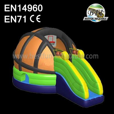 Inflatable Basketball Bouncer Slide Combo