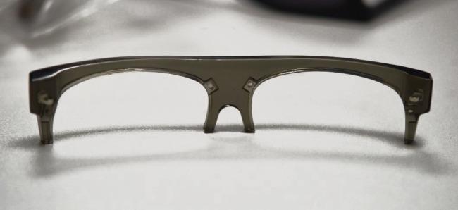 Vintage matte acetate half frame sunglasses