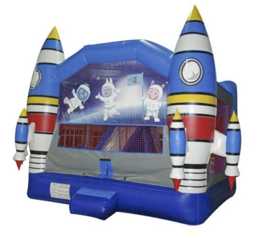 Inflatable PVC Space Rocket Bounce Castle