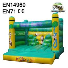 Green Jungle Animal Jumping Bouncy House