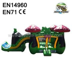 Mushroom Theme Inflatable Slides And Castles