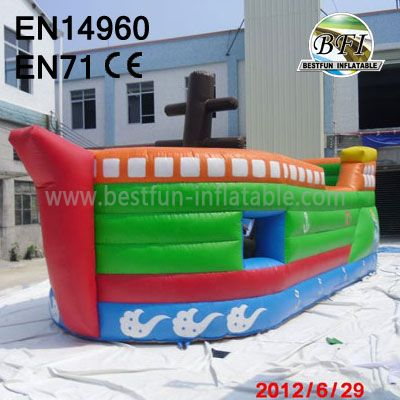 Cheap Pirate Ship Inflatable Slide And Castle