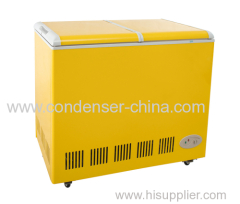 168L fold door chest freezer